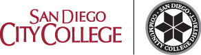 City College name with black district seal to the right