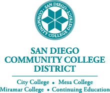 Color district seal with district name and colleges below