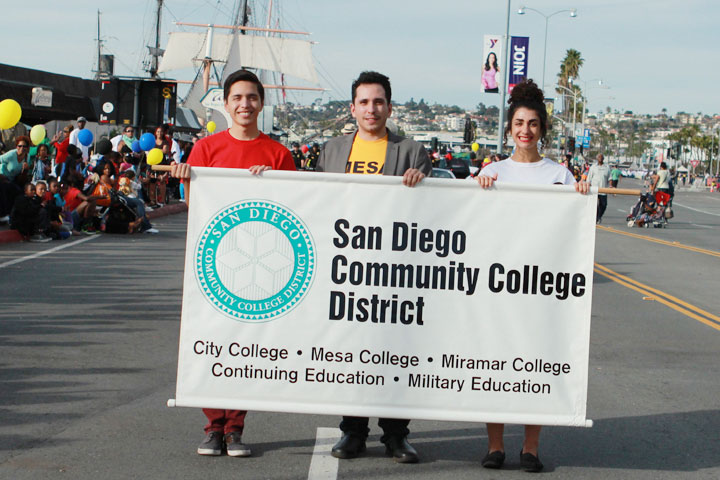 San Diego Community College District students march in the 2015 Martin Luther King, Jr. Parade