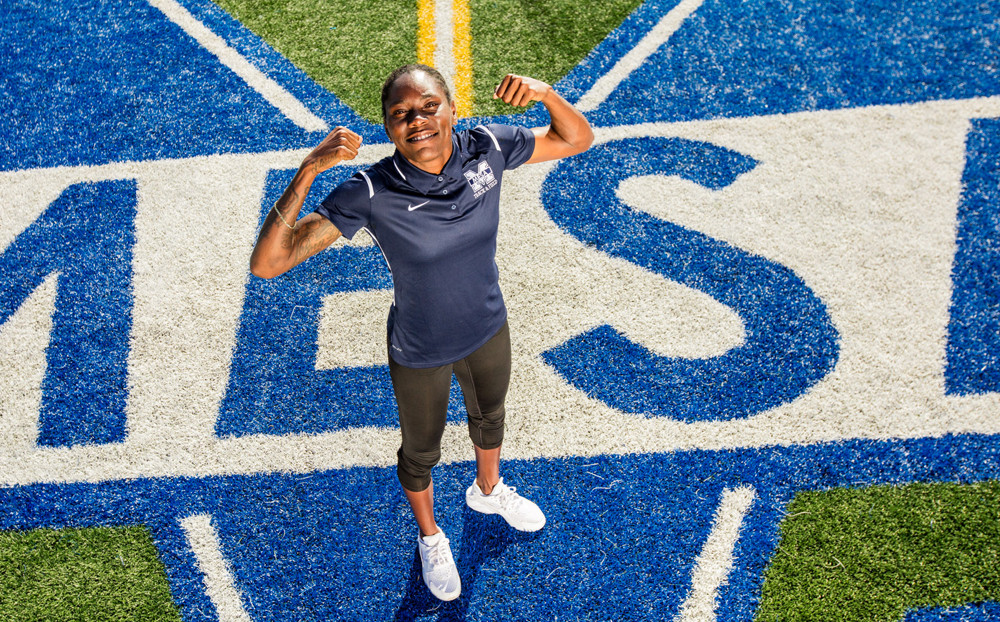 Mesa College track coach Brittney Reese