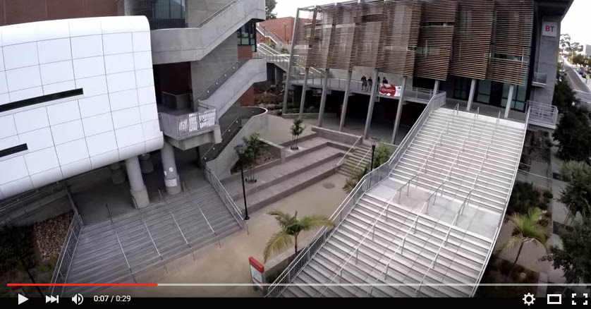 Drone's-eye view of San Diego City College