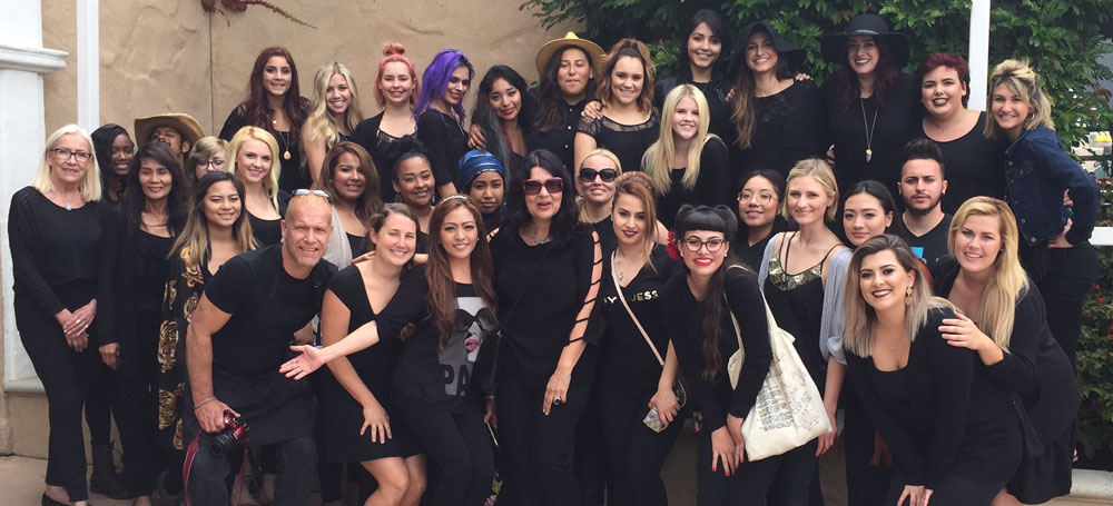 Cosmetology students at the San Diego County Fair.