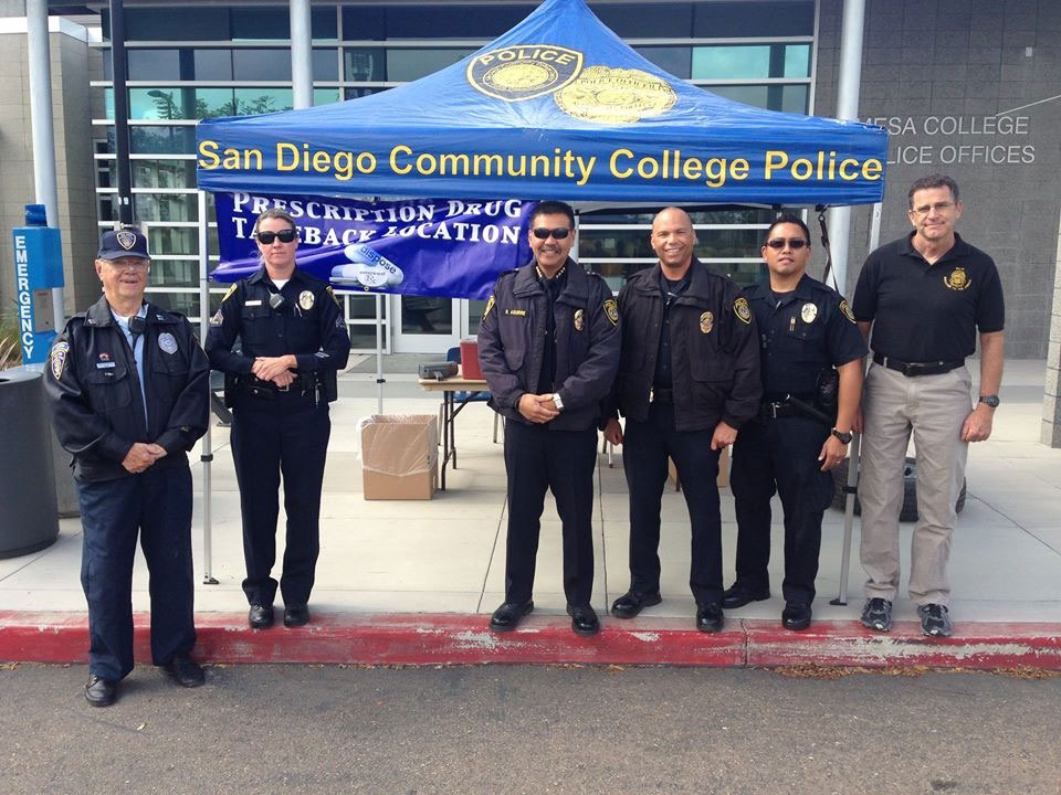 College Police at the 2016 drug take back event