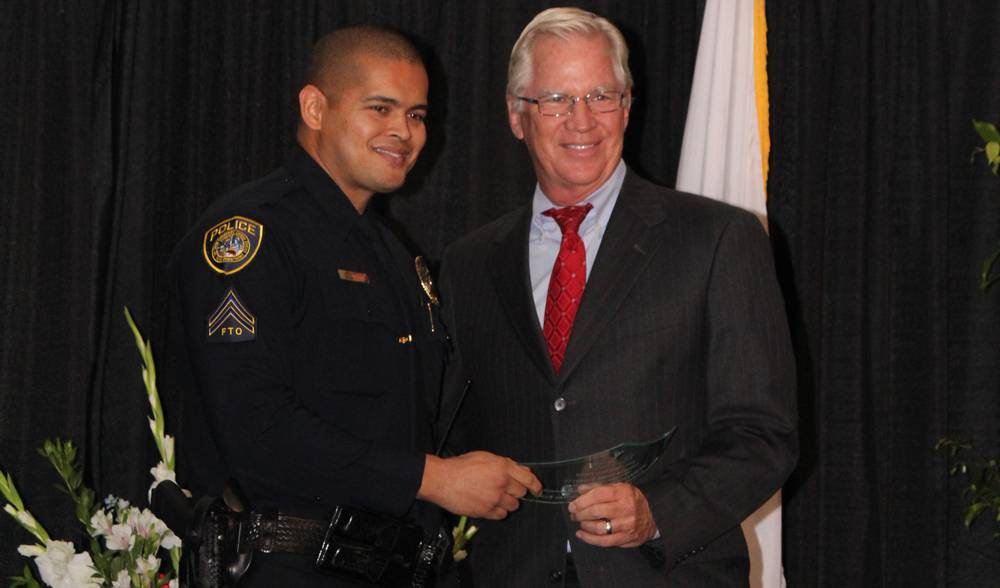 SDCCD Police Officer James Everette was recognized at a Sept. 16 awards ceremony.