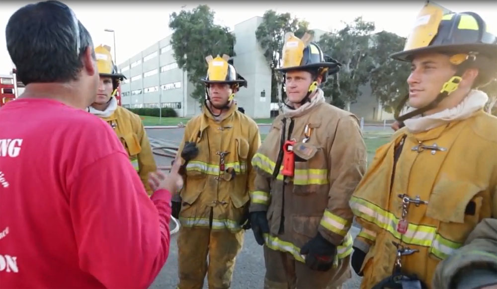 79th San Diego Fire Department Academy trains at Miramar College