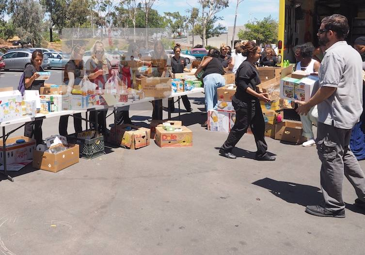 Food drive at San Diego City College