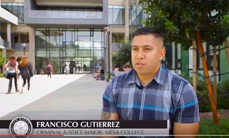 Francisco Gutierrez, Criminal Justice Major - Mesa College