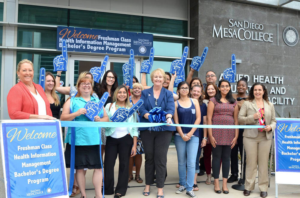 The ribbon cutting launching the baccalaureate pilot program at Mesa College