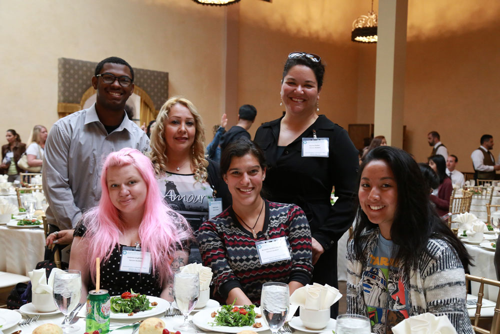 Honors students at the Honors Reception.
