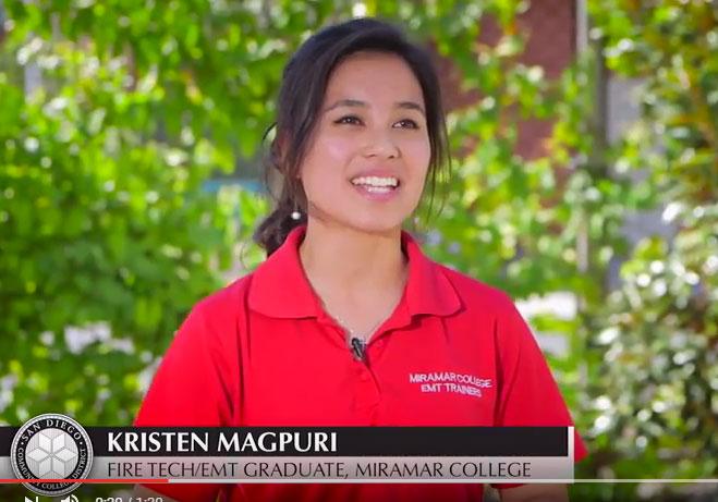Kristen Magpuri - Fire Tech/EMT Graduate, Miramar College