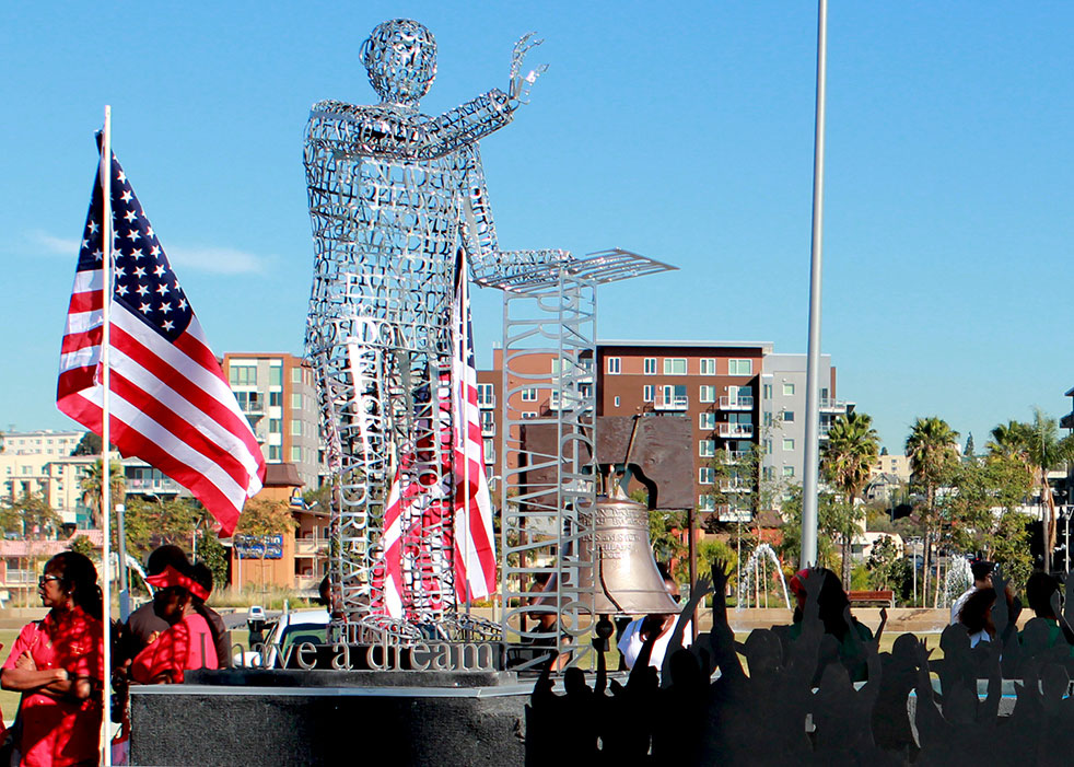 San Diego Continuing Education's award-winning float from the 2015 Martin Luther King, Jr. Parade.