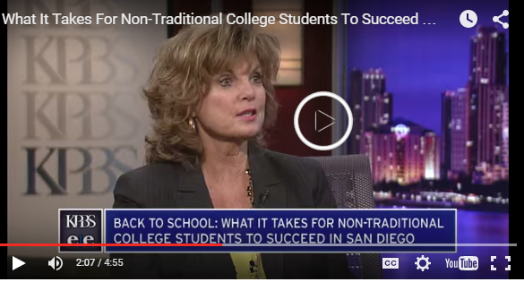 KPBS video: What It Takes For Non-Traditional College Students To Succeed In San Diego