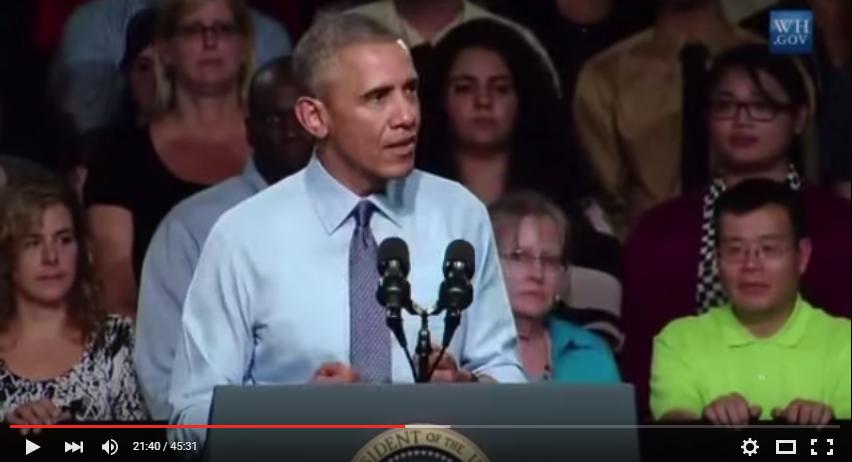 President Obama and Dr. Biden Speak at Macomb Community College