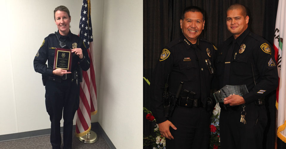 Officer Jane Obara and Officer James Everette will be honored for their exemplary service