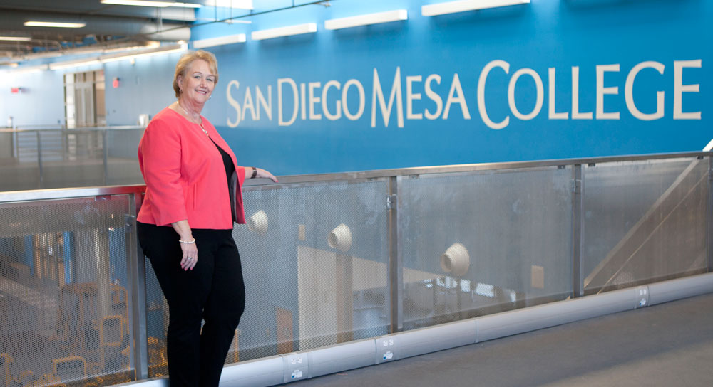 San Diego Mesa College President Pamela T. Luster at Mesa College campus