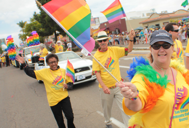 San Diego Community College District marches in the 2014 Pride Parade
