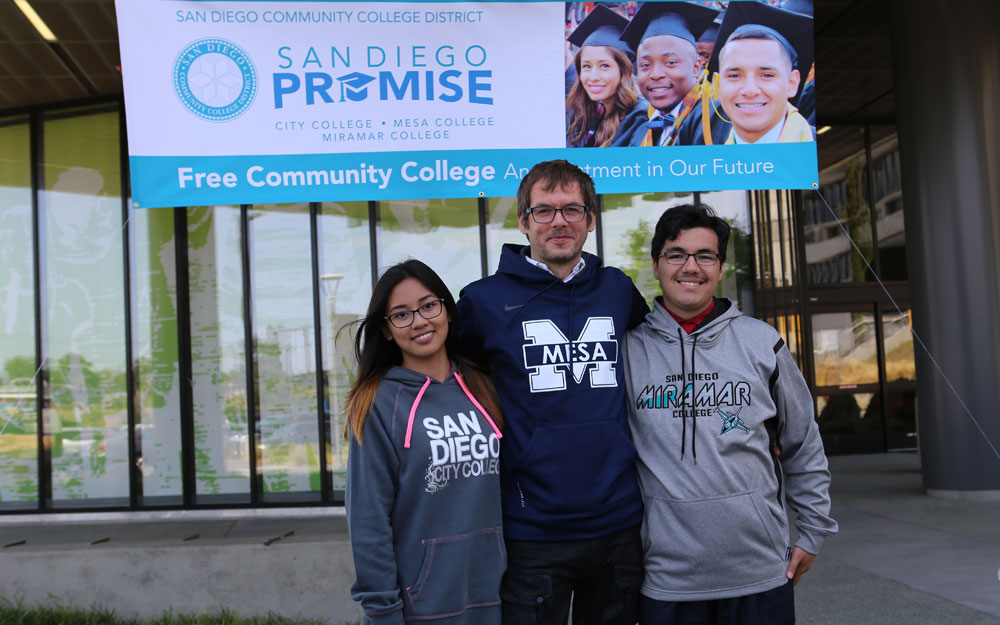 three san diego promise students