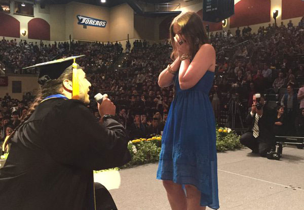 Mesa ASG president proposes at commencement