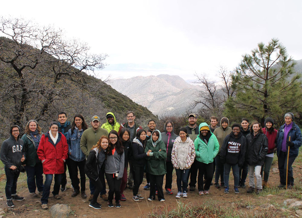 Students in the SEEDS program on a field trip in the Laguna Mountains