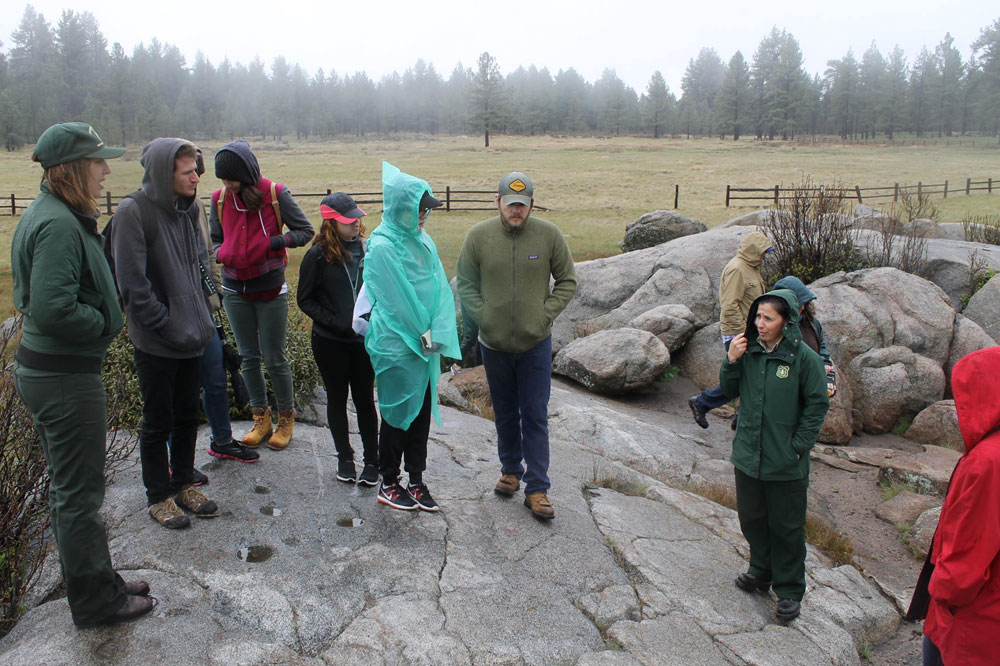 San Diego Mesa College SEEDS students on a field trip to Laguna Mountains