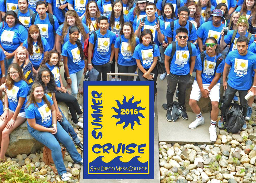students in the 2016 summer cruise at Mesa College