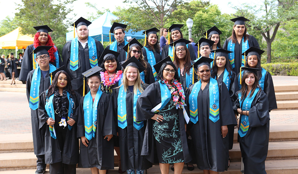 San Diego Promise students at the 2017 Continuing Education commencement