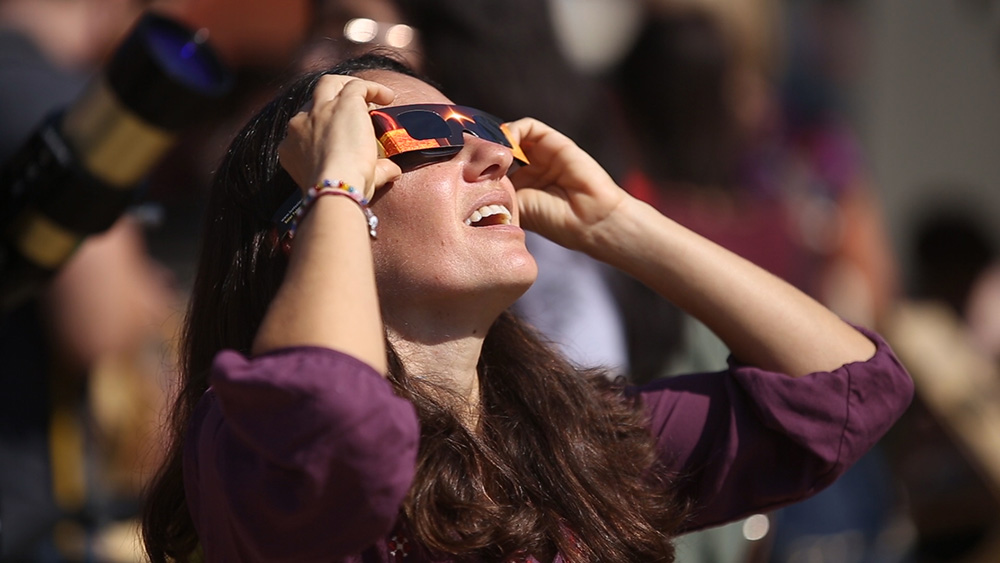 Solar eclipse viewing party at City College