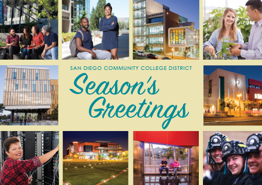 Cover of the District Season's Greetings card