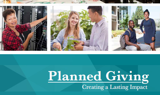 Photo of the planned giving brochure