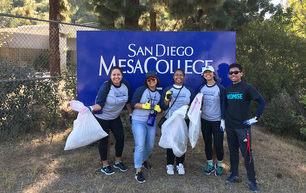 Canyon Day cleanup at Mesa College - 2018