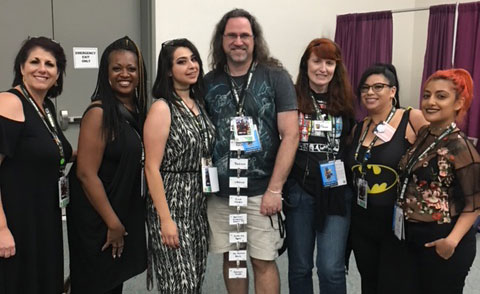 cosmetology students and faculty at comiccon