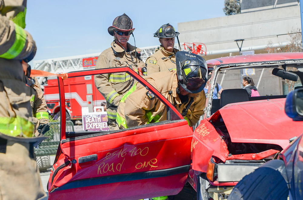 Jaws of Life demonstration at Mesa College