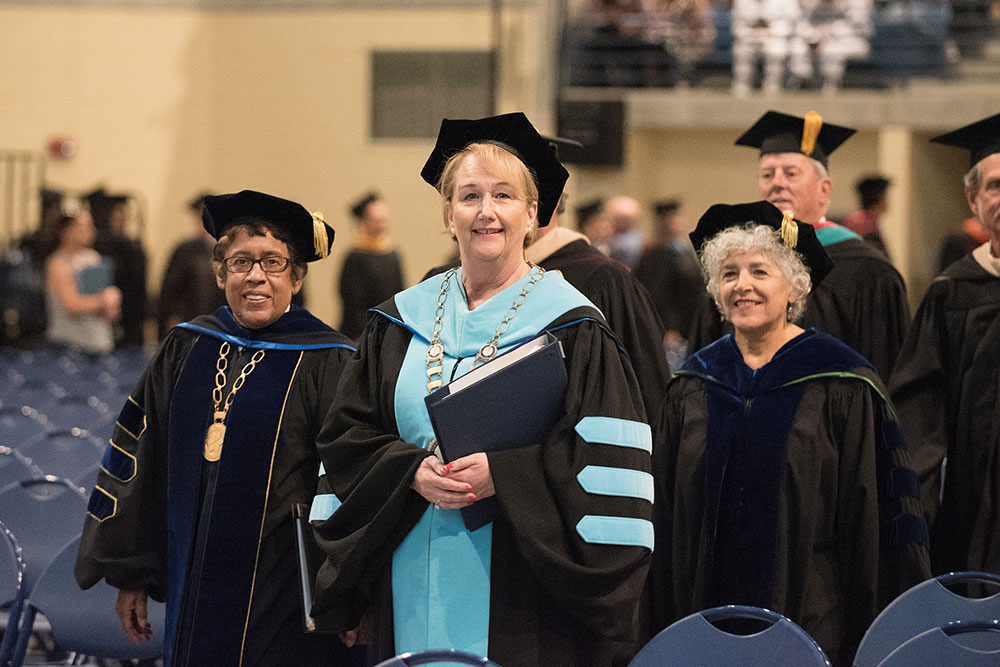 chancellor and president luster at mesa's 2017 graduation