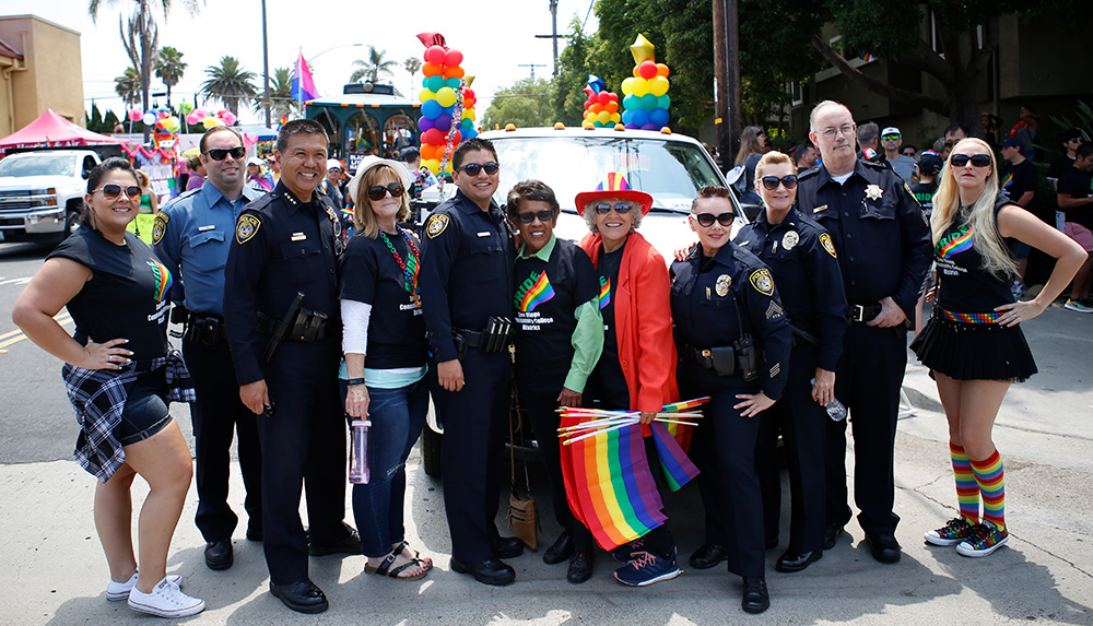 District leaders at the 2017 pride parade