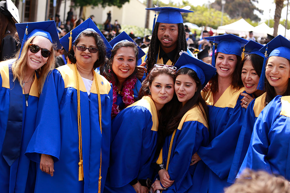 Mesa students at graduation who received a bachelors degree in 2018