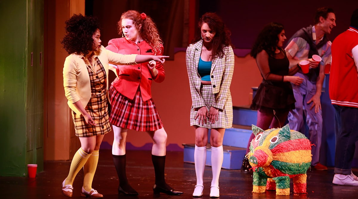 Heathers The Musical on stage at City College Featured Image