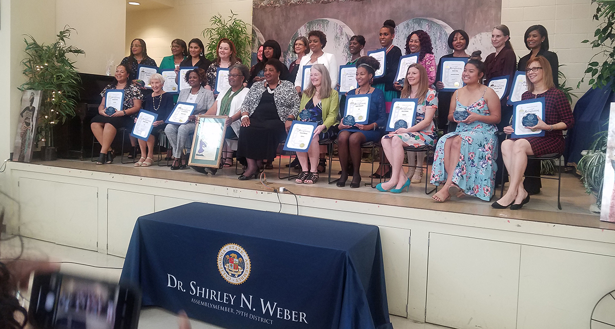 women honored at the 79th State Assembly District's Salute to Women Leaders