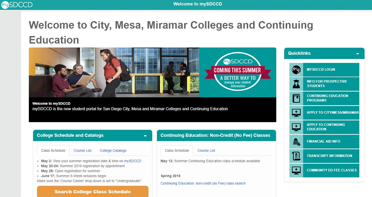 District launches new student portal, mySDCCD