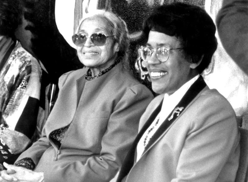 Rosa Parks with Constance M. Carroll in 1992