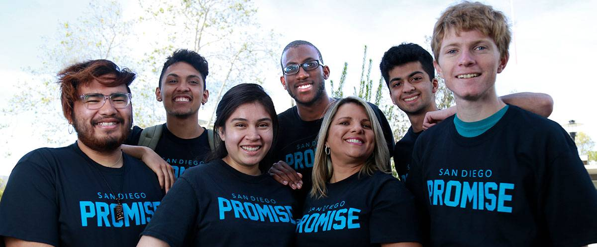 Seven Promise students wearing Promise t-shirts