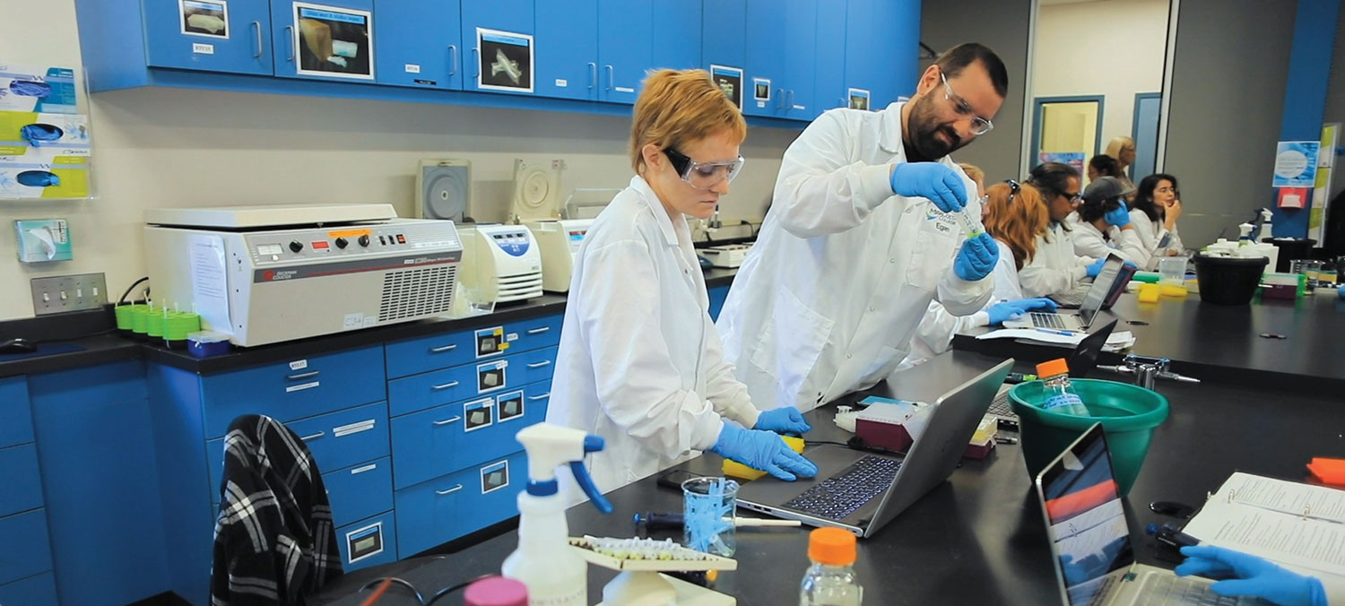 Students get hands-on experience during class as part of MiraCosta's Biomanufacturing program. File photo provided by MiraCosta College.