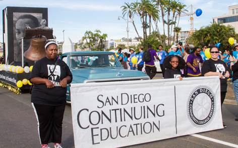 Students from San Diego Continuing Education March in Annual Martin Luther King Jr. Parade