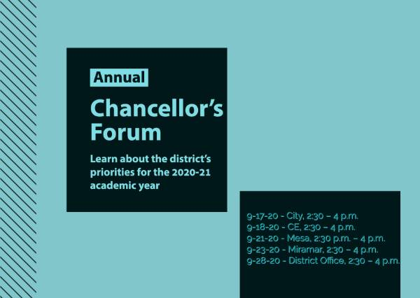 Chancellor's forums will address district plans for 2020-21 academic year Featured Image