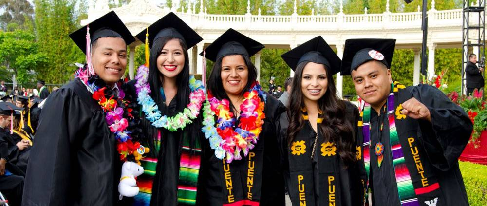 A group of hispanic students from Puente at commencement