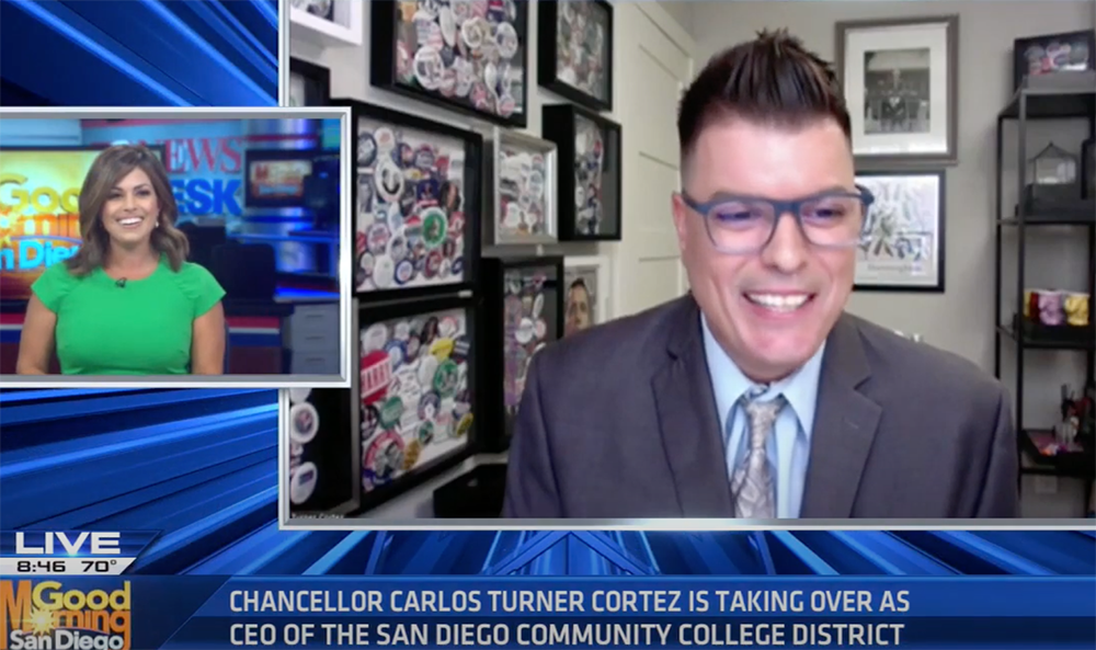 Dr. Carlos O. Turner Cortez discusses new role as chancellor of the SDCCD Featured Image