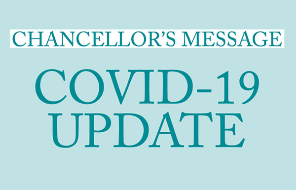 Chancellor's message: Coronavirus update - 4/8/2021 Featured Image