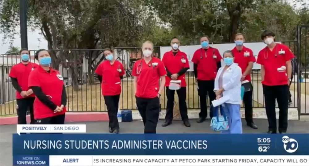 City College nursing students administer vaccines Featured Image