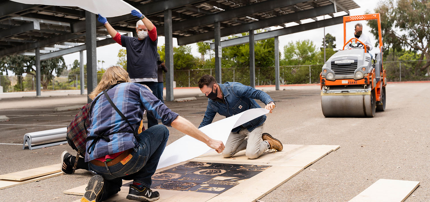 Steamroller Printmaking Drive-Through Art Exhibition at Mesa College Featured Image